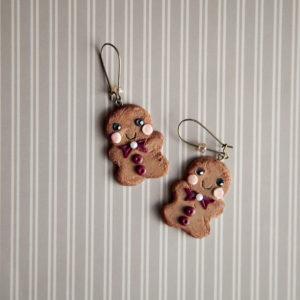 Χαριτωμένα Gingerbread Men Σκουλαρίκια