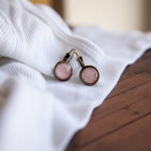 Σκουλαρίκια Ροζ Πουά
