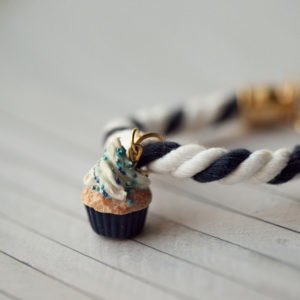 Navy Rope Cupcake Bracelet