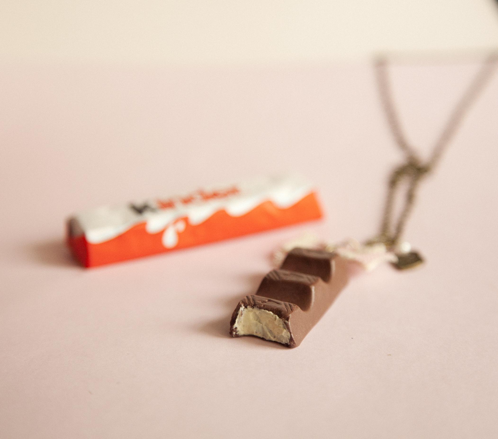 Kinder Chocolate Necklace – Ilianne   Jewelry Made of Love