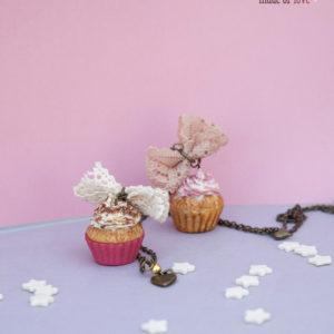 Ρομαντικό Cupcake με Δαντέλα