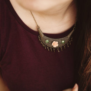 Fringe Rose Necklace