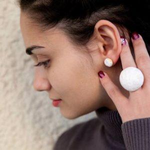 Σκουλαρίκια Κουραμπιέδες