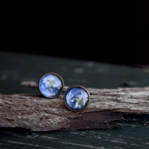 Moon & Earth Studs