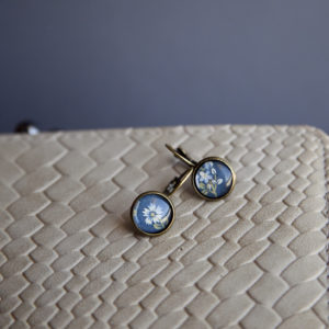 Σκουλαρίκια Μπλε Φλοράλ