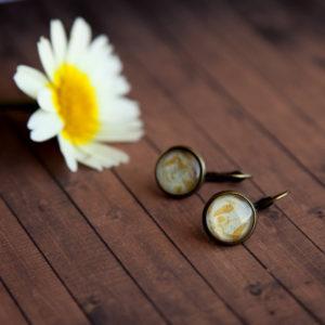 Σκουλαρίκια Χρυσά Φύλλα