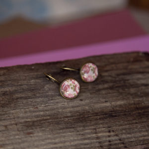 Pink Roses Studs