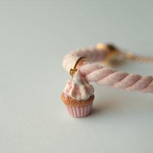 Pink Rope Cupcake Bracelet