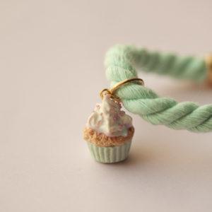 Mint Rope Cupcake Bracelet