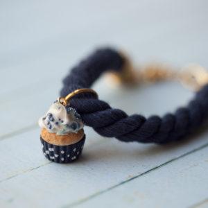 Blue Rope Cupcake Bracelet
