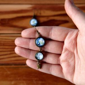 Σκουλαρίκια «Γη & Σελήνη»